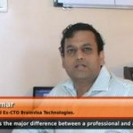 Major difference between a professional and  an entrepreneur(Ex-CTO Brainvisa Technologies.)