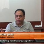 What is leadership from fresher's perspective? (Raghunandan Joshi – MD & CEO – Modular Infotech)