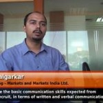 What are the basic communication skills expected from a new recruit, in terms of written and verbal communication? (AVP – Markets and Markets India Ltd.)