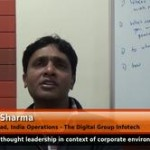 What is thought leadership in context of corporate environment? (Executive Head, India Operations – The Digital Group Infotech)